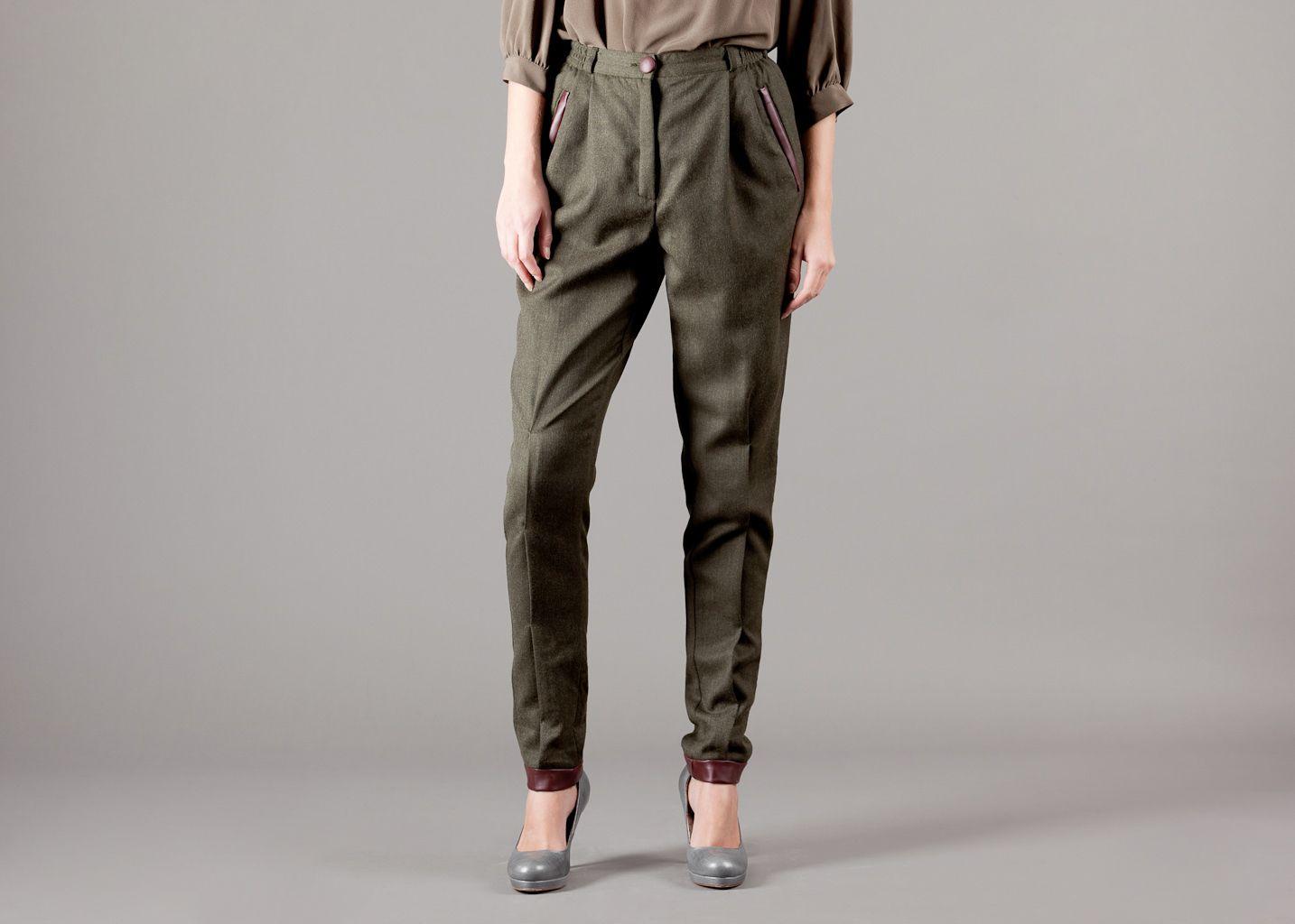 Pantalon Laine Gansé - Gaëlle constantini