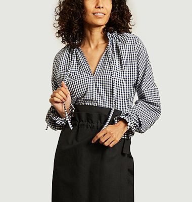 Noemi gingham check pattern blouse