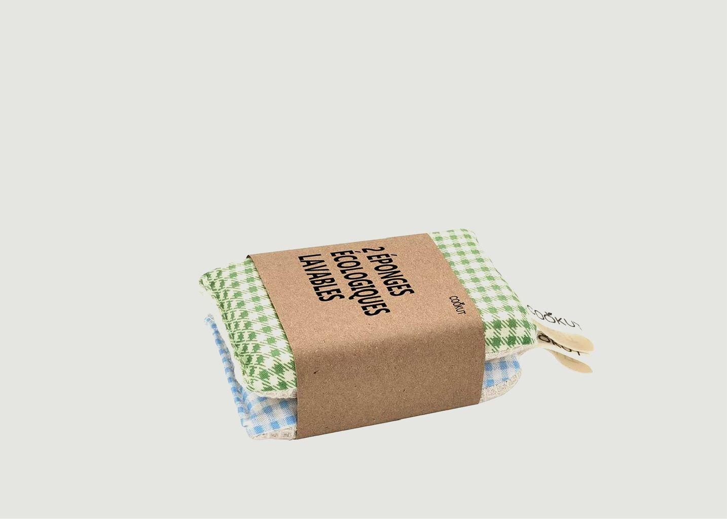 Lot de 2 éponges écologiques lavables - Cookut