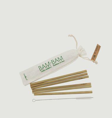 Pailles Réutilisables en Bambou