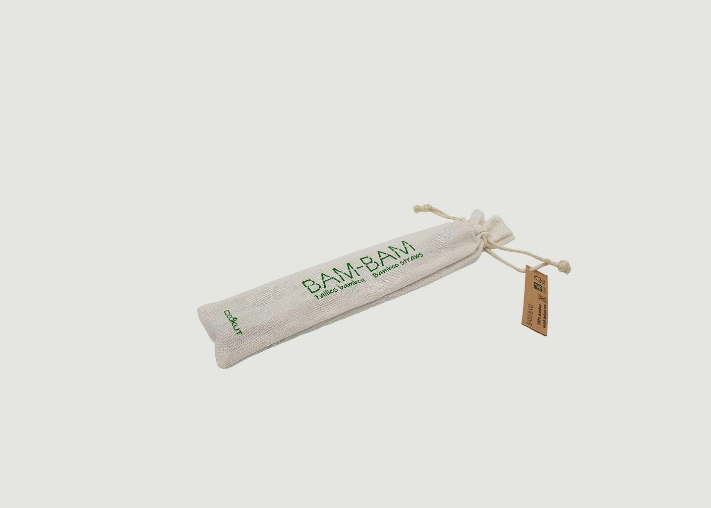 Pailles Réutilisables en Bambou - Cookut