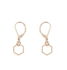 Mini Hexagon Earrings