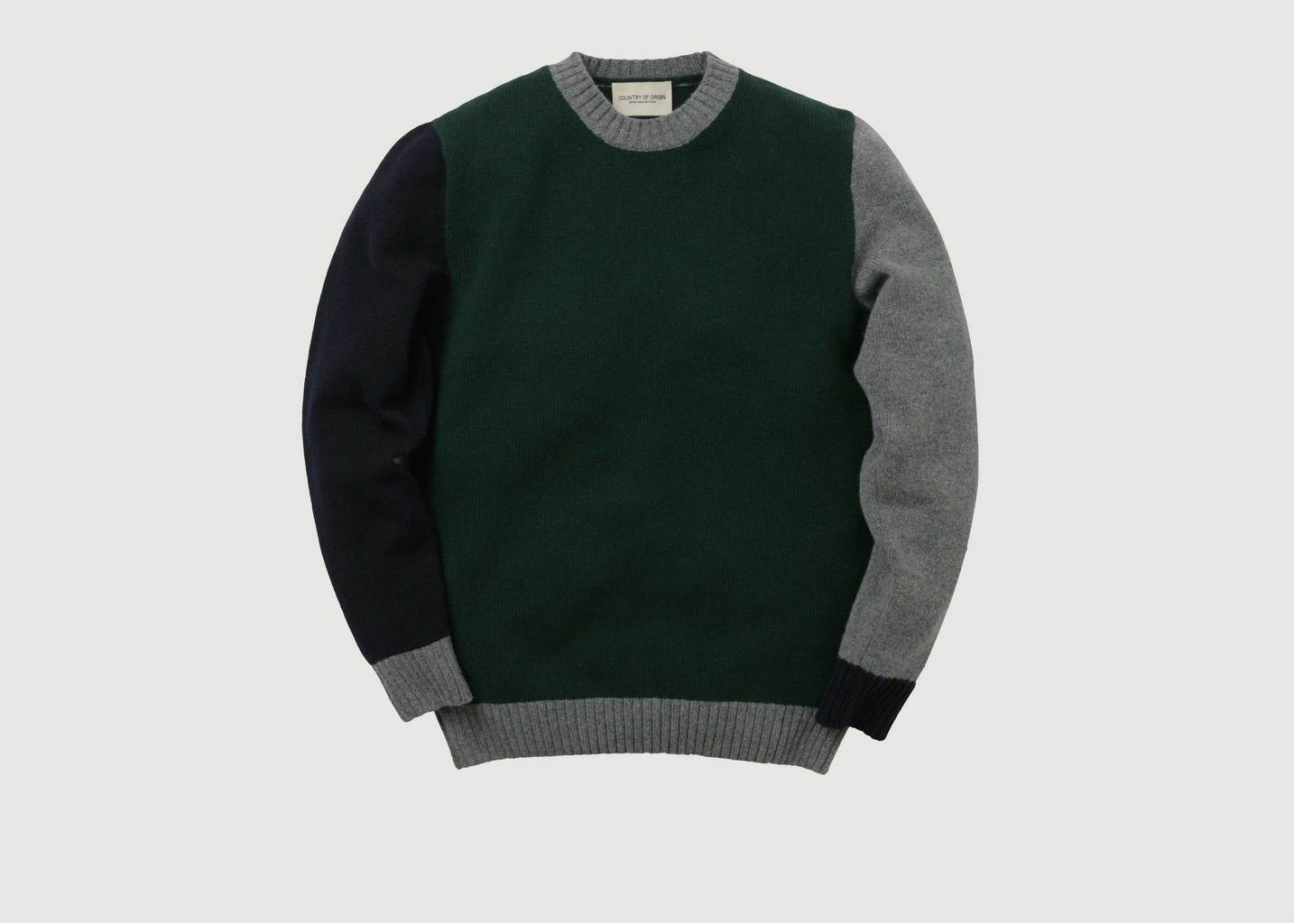Pull Tricolore Green Dark Navy - Country of Origin
