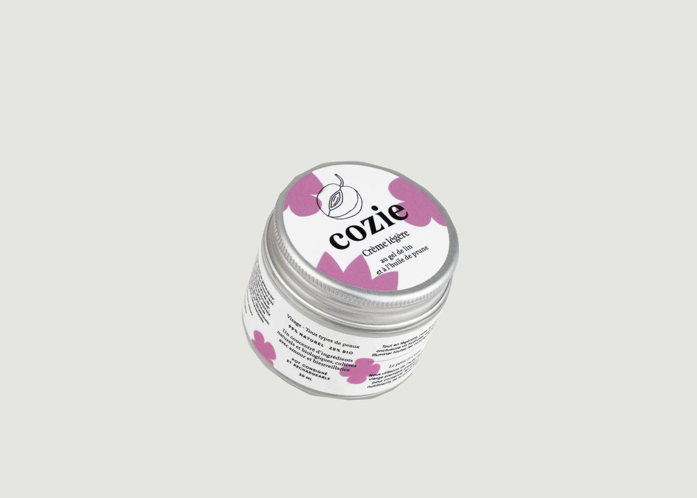 Crème légère visage au gel de lin et huile de prune - Cozie