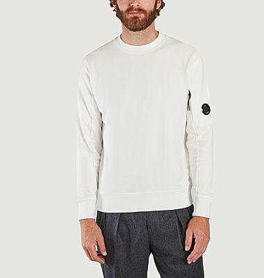 Diagonal hochgezogenes Fleece-Sweatshirt