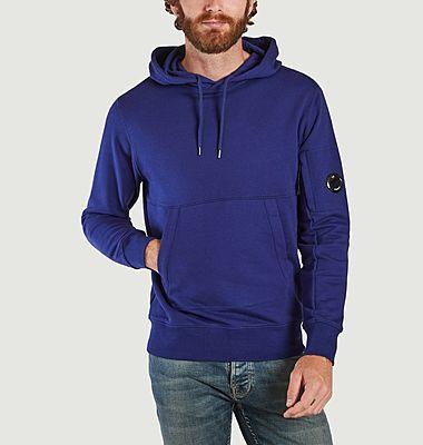 Diagonal Raised Fleece Hoodie Sweatshirt