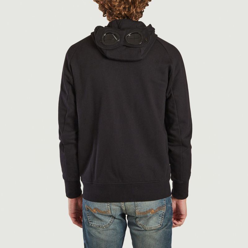 Diagonal Raised Fleece Goggle Hoodie - C.P. COMPANY