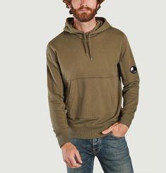 Diagonal Raised Fleece Hood C.P. COMPANY