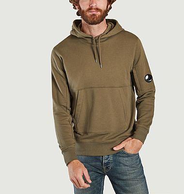 Diagonal Raised Fleece Hooded Sweatshirt