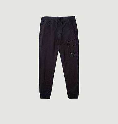 Pantalon de survêtement en polaire à relief diagonal