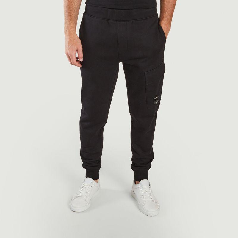 Pantalon de survêtement en polaire à relief diagonal  - C.P. COMPANY