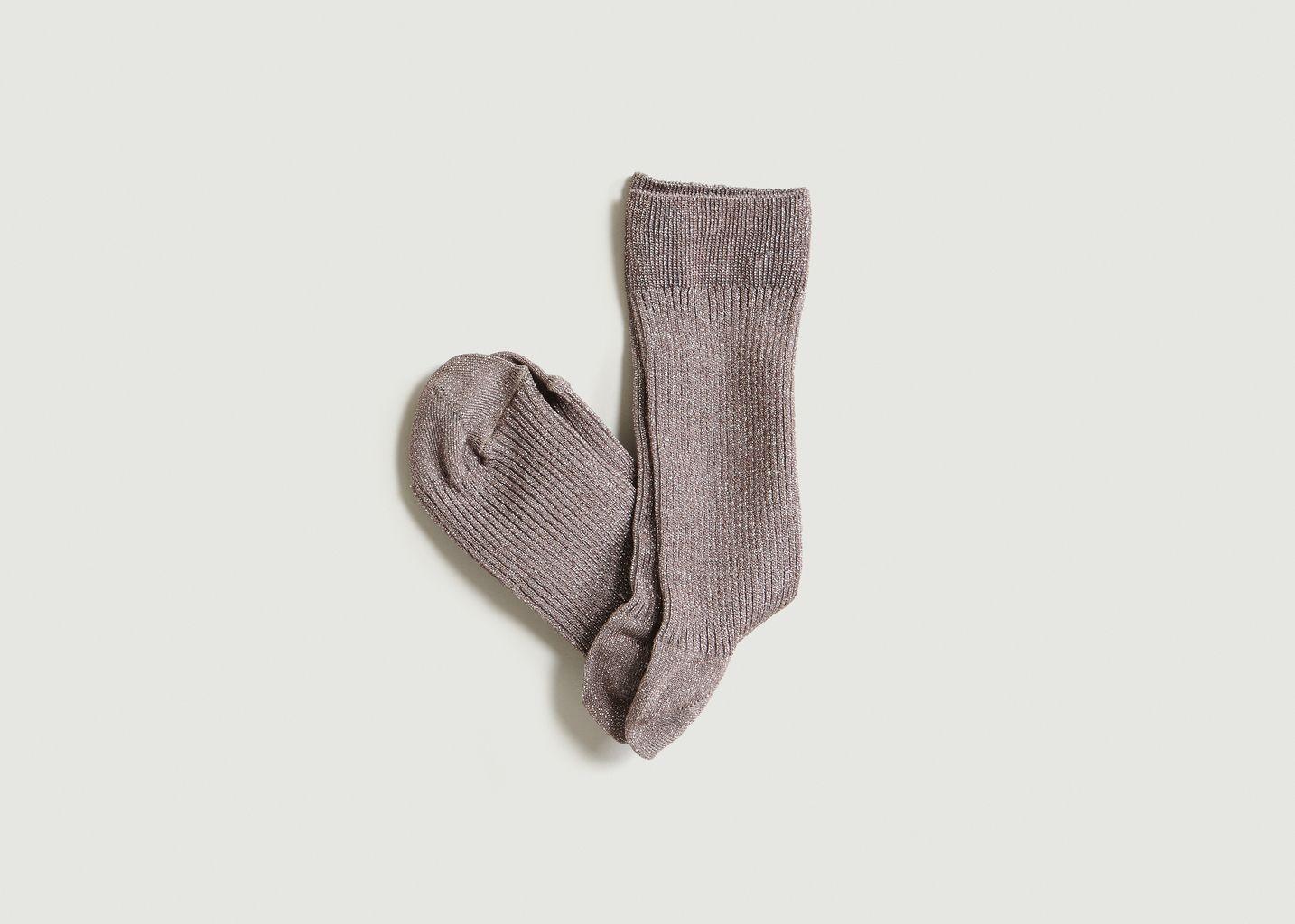 Chaussettes Brillantes - Craie