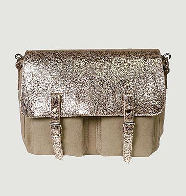 Mini Maths canvas and metallic leather bag