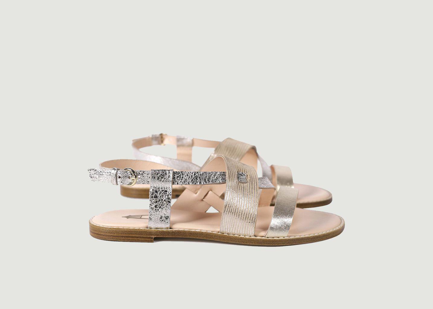 Sandales Trilogie - Craie