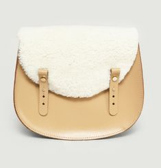 Moon Sherpa Flap Handbag