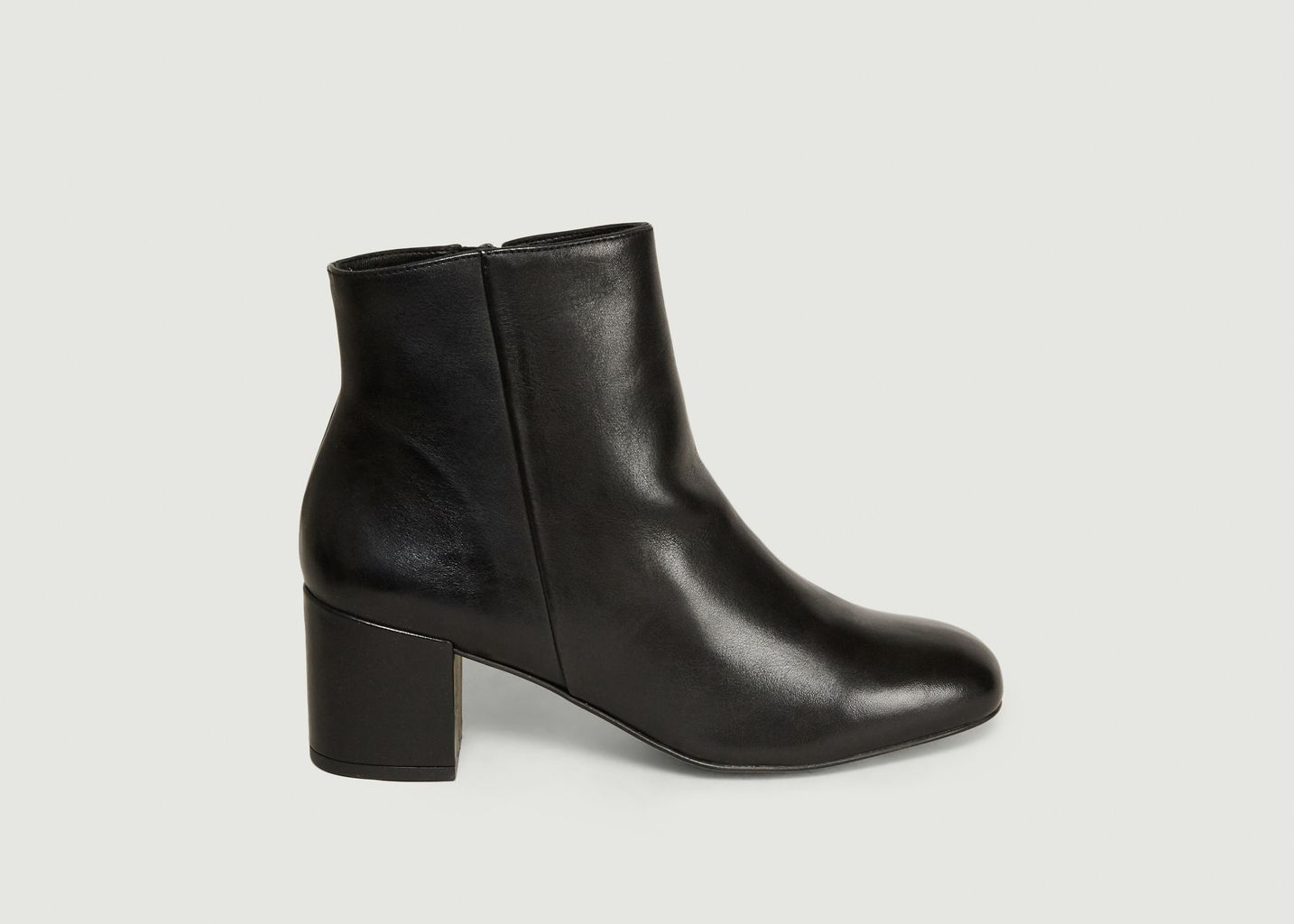 Boots En Cuir Lisse April - Craie