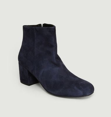 Boots En Cuir Velours April