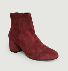 Boots En Cuir Velours April