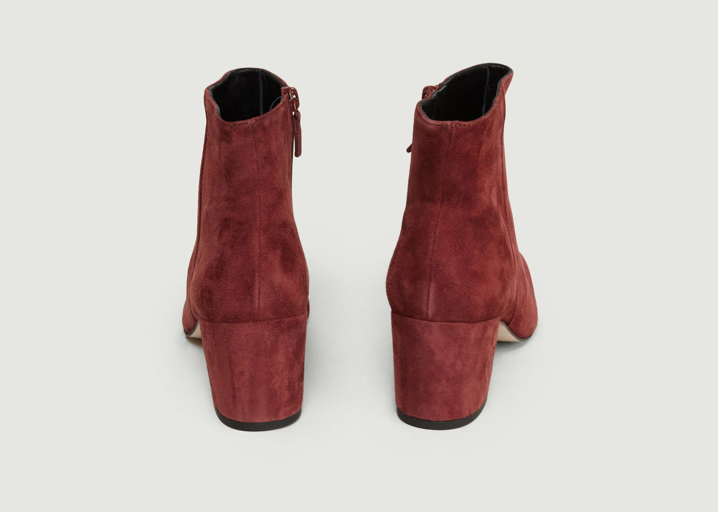 Boots En Cuir Velours April - Craie