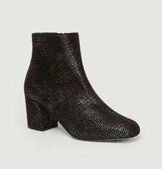 Boots En Cuir Lamé April