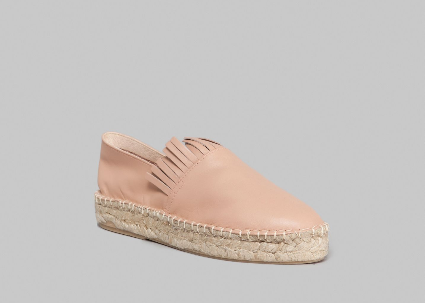 659238ee35a15 Espadrilles Franges Rose Craie   L Exception