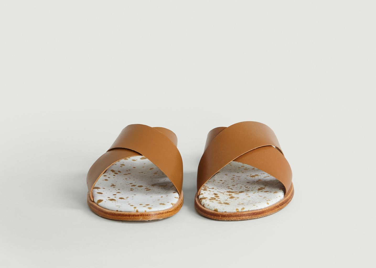 Sandales Cuir Croisées Infinity - Craie dHCCZV2