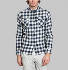 Chequered Denim Shirt