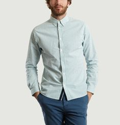 Grillon Striped Seersucker Shirt