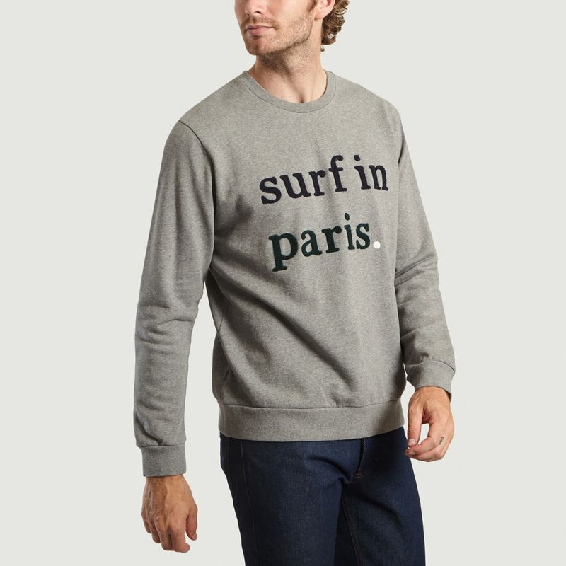Sweat Fado Broderie Surf In Paris - Cuisse de Grenouille