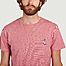 matière T-shirt à micro rayures en coton bio Manolo - Cuisse de Grenouille