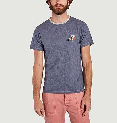 Manolo T-Shirt aus Bio-Baumwolle mit Mikrostreifen