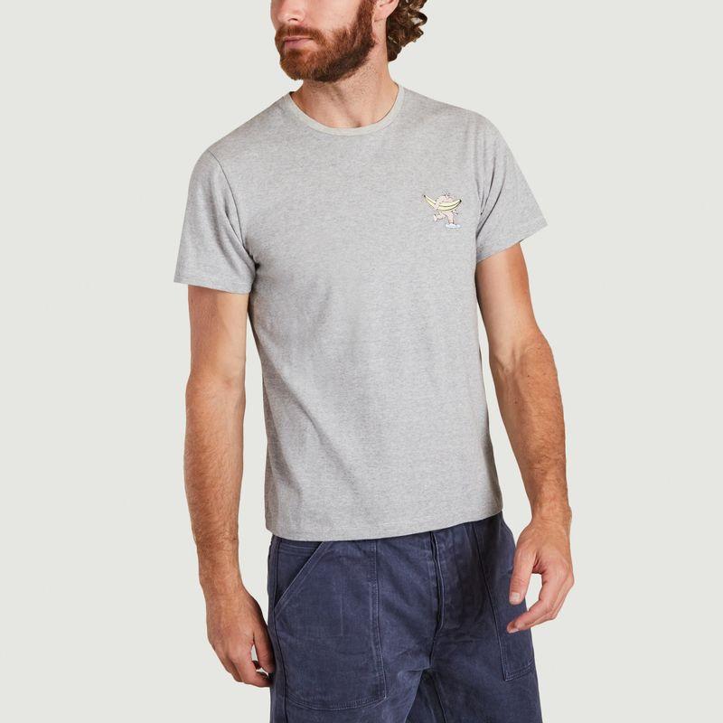 T-shirt à micro rayures en coton bio Manolo - Cuisse de Grenouille