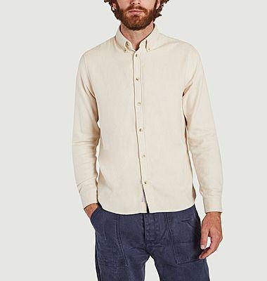 Cremefarbenes Button-Down-Hemd