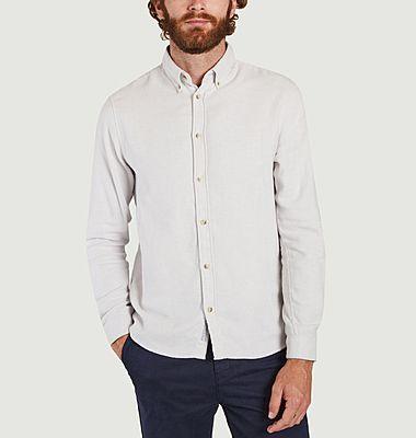Hellgraues Button-Down-Hemd