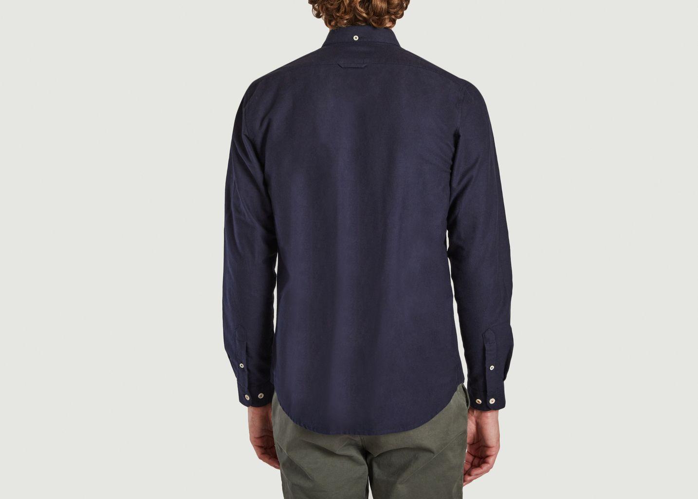 Chemise Boutonée avec Poche  - Cuisse de Grenouille