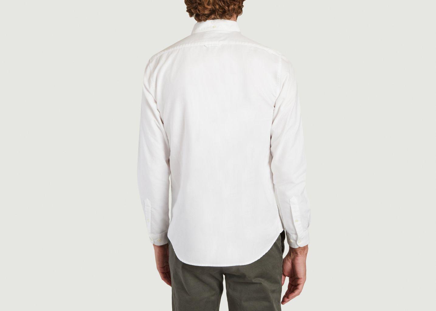 Chemise Boutonnée Broderie Maison Blanc Cassé - Cuisse de Grenouille