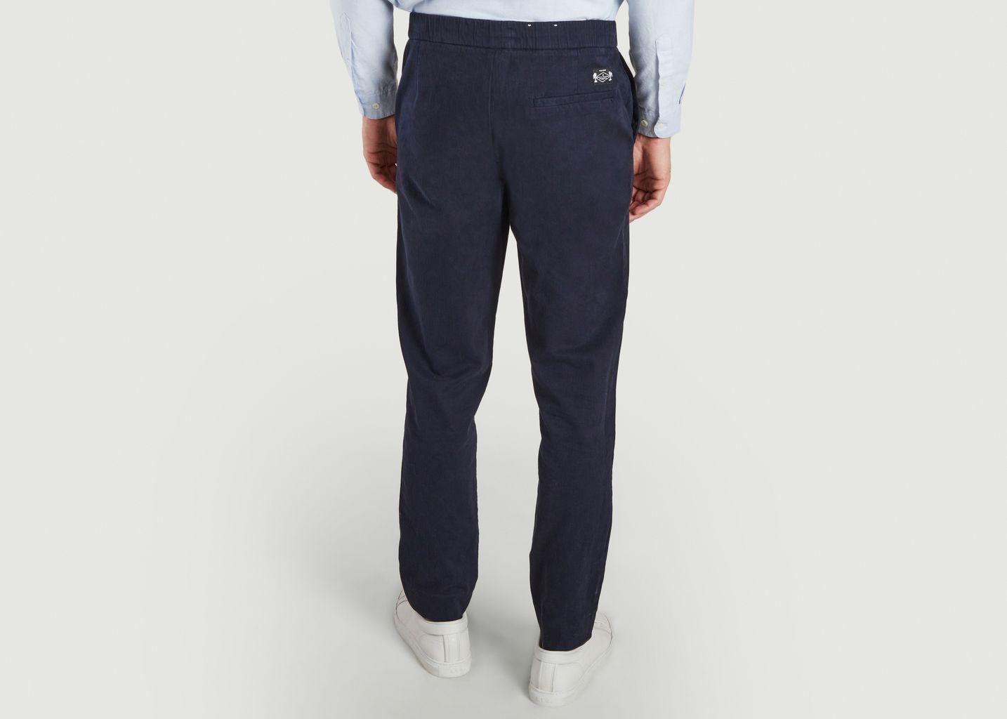 Pantalon Coton Organique Marine Foncé - Cuisse de Grenouille