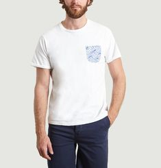 Contrasting Wave Pocket T-Shirt
