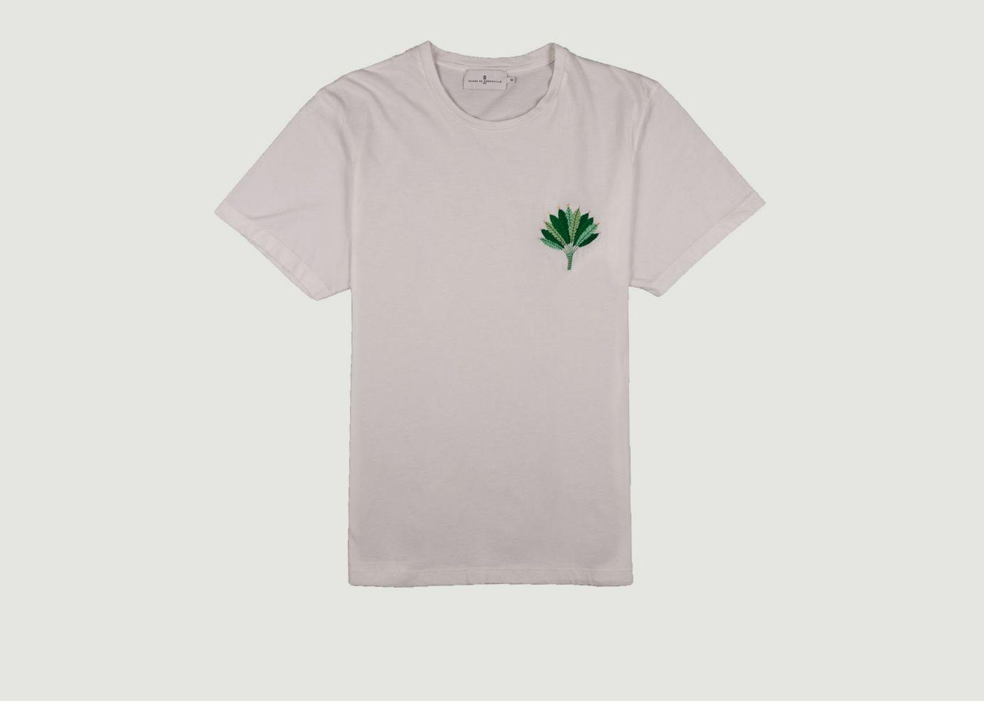 T-Shirt A Feuille Brodée Jérémie - Cuisse de Grenouille