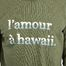 matière Sweatshirt L'Amour A Hawaï Jamel - Cuisse de Grenouille