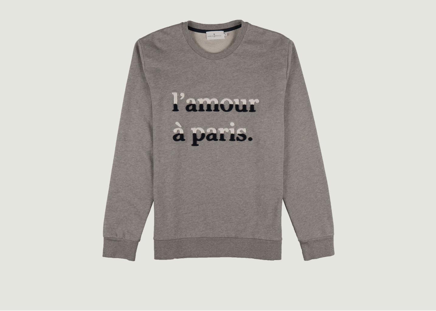 Sweatshirt L'Amour A Paris Jeannot - Cuisse de Grenouille