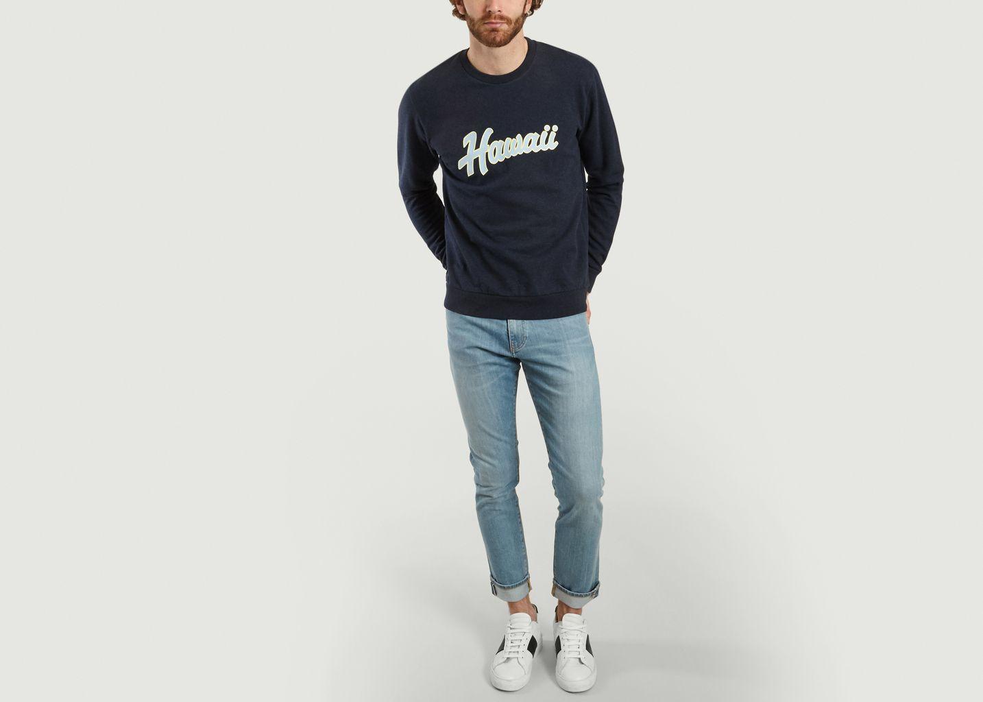 Sweatshirt Imprimé Hawaï Juste - Cuisse de Grenouille