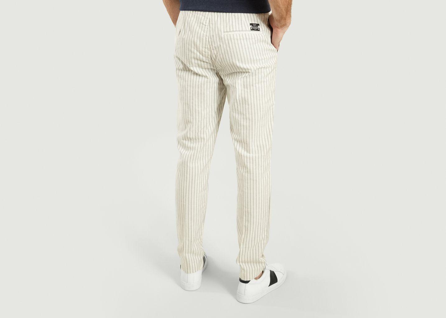Pantalon Rayé Joey - Cuisse de Grenouille
