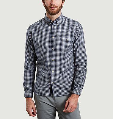 Chemise à carreaux en coton Oxford Karl