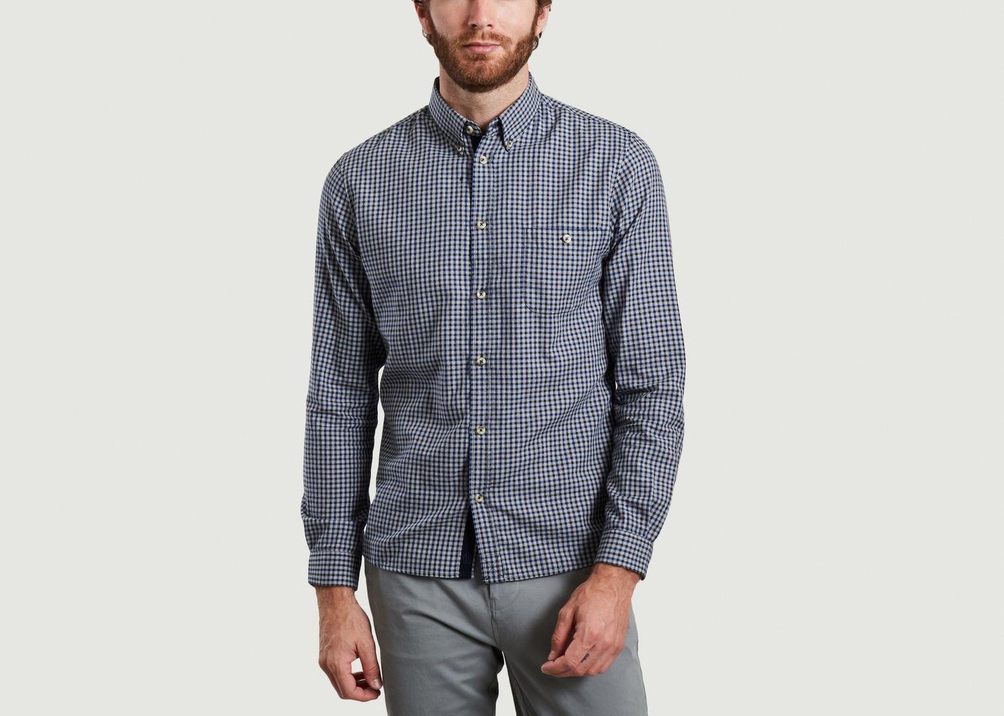 Chemise à carreaux en coton Oxford Karl - Cuisse de Grenouille