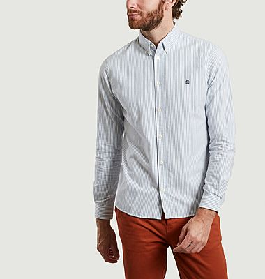 Kentin Oxford organic cotton striped shirt