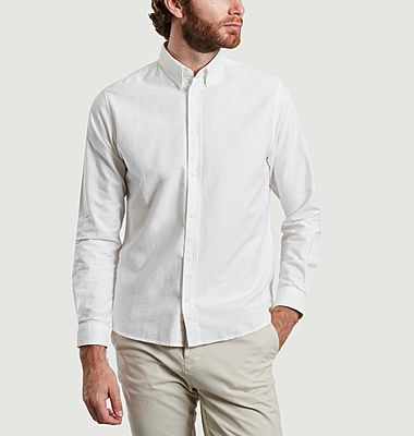 Kentin Oxford cotton shirt with logo