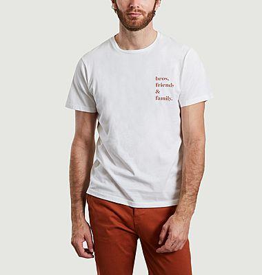 T-shirt en coton bio imprimé bros, friends and family Keaton