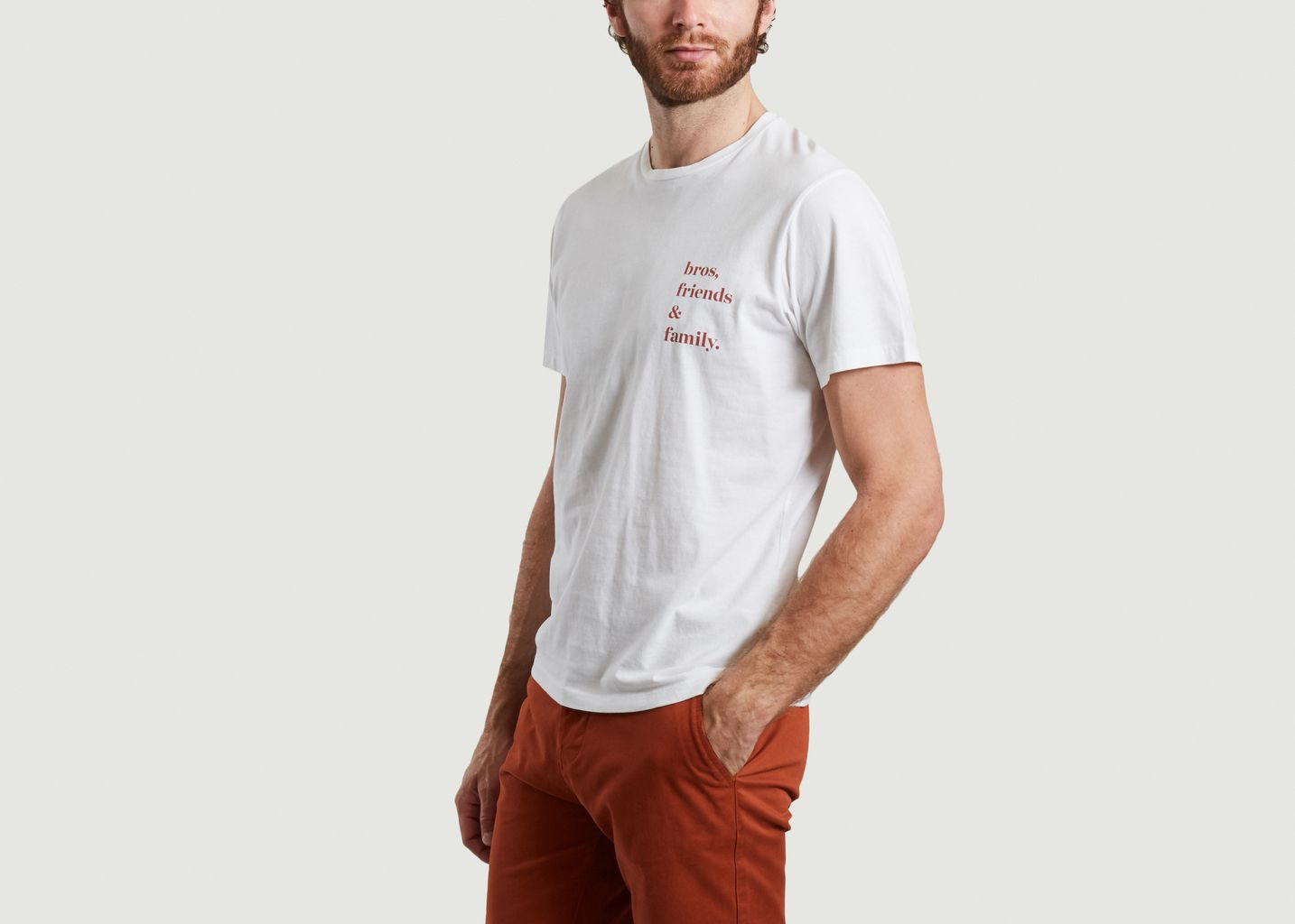 T-shirt en coton bio imprimé bros, friends and family Keaton - Cuisse de Grenouille