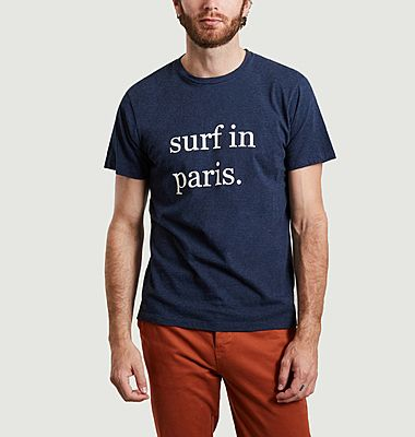 T-shirt imprimé surf in paris en coton bio Karlito